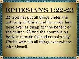Image result for Ephesians 1: 22-23
