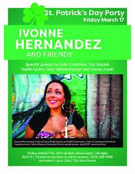Irish Party: Ivonne Hernandez @ Hermann's Jazz Club - Mar 17, 2017 Victoria  BC