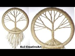 Ideas For Making Dream Catchers Awesome DIY Vintage Tree Dream Catcher Room Decoration Ideas Jute Craft