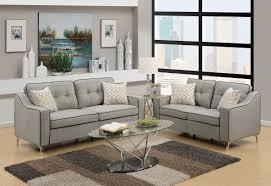 Light Grey Couch Set F6892 Light Gray 2 Pcs Sofa Set By Poundex