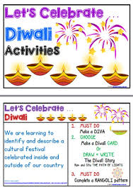 Diwali Activities Management Charts Diwali