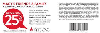 Macy friends and family coupon Rock and roll marathon app