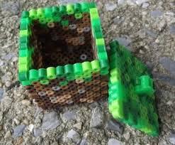 1000 images about minecraft perler beads perler minecraft dirt block perler bead trinket box