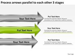 Executive Sumary Arrows Parallel To Each Other 3 Stages Executive Summary Business
