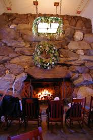 big stone fireplace in the grand lobby of the omni grove park inn in asheville