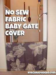 no sew baby gate cover