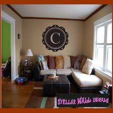 coffee coaster border letter c monogram letters vinyl wall decal sticker mural quotes words mg003c swd
