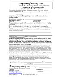 free sle best s of makeup artist bridal contract printable
