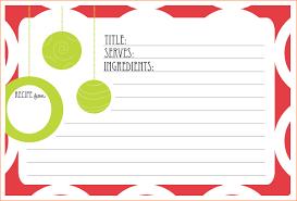 Printable Christmas Recipe Cards Christmas Recipe Card Templates Free Barca Fontanacountryinn Com