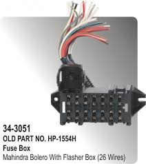 fuse box mahinda bolero flasher box 26 wires hp 34 3051 fuse box mahinda bolero flasher box 26 wires hp 34 3051
