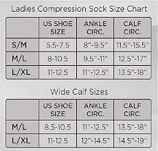 Legacy Graduated Compression Socks Size Chart Amazon Com Legacy Sheer Graduated Compression Socks Clothing