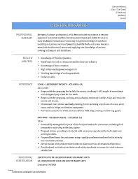 Cooking Teacher Cover Letter Culinary Resume Web Line Cook Hotel ...
