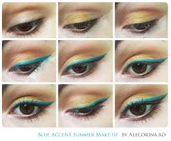 Eyeliner Chart Blue Accent Summer Make Up Ale Corina Art