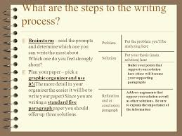 a guide to problem and solution essays ppt video online  what are the steps to the writing process