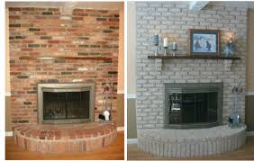 how to redo a brick fireplace