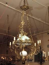 antique oil lamp chandelier antique brass