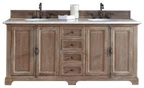 Exellent Rustic Bathroom Double Vanities Vanitiesrustic Providence Driftwood Vanity Wolfhouseus To Modern Design