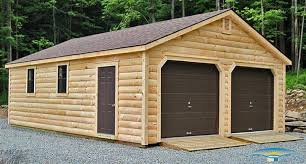 Built OnSite Custom Amish Garages In Oneonta NY  Amish Barn Company2 Car Garages