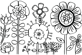 Flower Design Coloring Pages Printable Coloring Page Of A Flower