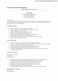 Sample Resume For Lecturer In Computer Science With Experience Lecturer Resume format for Computer Science Elegant Professor 50