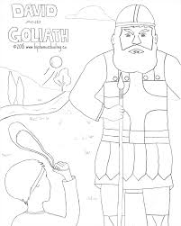 Adult David And Goliath Coloring Pages David And Goliath Coloring