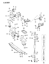 1989 jeep cherokee engine mounting diagram 0000198j