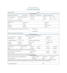 printable registration form template 44 new patient registration form templates printable templates