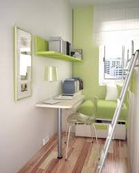 Idyllic Grey Wall Scheme Withgreen Wooden Book Shelf Painting Look Finish  And Green Single Foamy Beddrawer