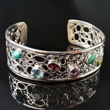Широкий <b>жесткий</b> серебряный браслет, цена - 1200 грн ...