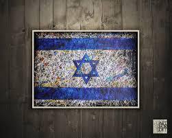 israel flag wall art jewish art  on modern jewish wall art with israel flag wall art jewish art art for loft