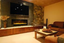 tv and fireplace wall inspired electric fireplace in family room contemporary with fireplace next to wall tv and fireplace wall