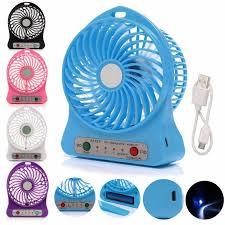 mini fan.  Mini Home Improvement  Portable Mini Fan Rechargeable Desktop Fan Battery And  USB Charge Cable In