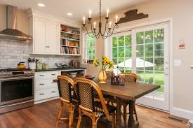 dining room white cabinets. Farmhouse Kitchen \u0026 Dining Room Idea White Cabinets W