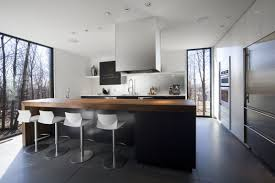 Modern Kitchen With Bar Amazing Clean Lines Modern Kitchen Decorating Ideas Using Huge