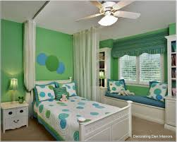 Polka Dot Bedroom Style Kids Decoration Inspiration With White Bed Blue Green Polka