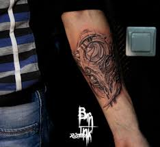 татуировки в стиле биомеханика Biomechanical Rustattooru кузнецк