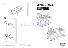 Ikea Instruction Manuals Assembly Instruction For Storage Furniture Ikea Anordna Superb