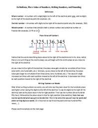 business math business math place value writing numbers and rounding