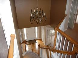 image of replacing entryway chandelier