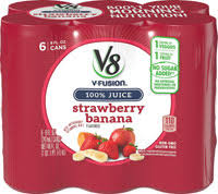 v8 v fusion strawberry banana 6 cans