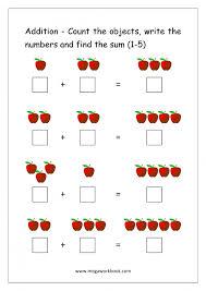 Math Worksheets Beginner Addition Simple Printabler Kindergarten ...