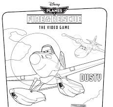 Small Picture Disneys Planes Fire Rescue Video Game Coloring Pages Disney