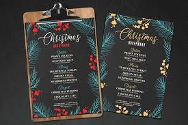 Chalkboard Menu Templates 10 Awesome Christmas Restaurant Menu Templates Barcelona