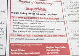 Cv Shop Assistant Staff Wanted Galway Deli And Shop Assistants