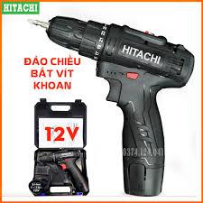 Máy khoan pin Hitachi 12V - Khoan 2 cấp tốc độ, Lõi đồng - Máy Khoan dùng  pin, Máy bắt vít 12V, Đảo chều
