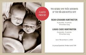 twin birth announcements photo cards birth cards for twins cards nation