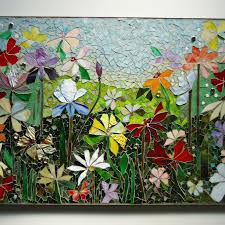 mosaic wall art stained glass wall decor fl garden indoor