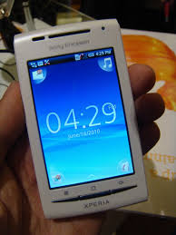 sony ericsson xperia x8. the xperia x8 is a 3.0 inch (320×480 hvga) android 1.6 phone running on 600mhz processor. 9.9 x 5.4 1.5cm and weighs 104g. sony ericsson
