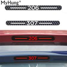Car Brake Light Stickers Us 3 27 9 Off Newest Carbon Fiber Car Sticker Of Additional Brake Light Fit For Peugeot 206 301 307 High Brake Rear Light Sticker Car Styling In Car
