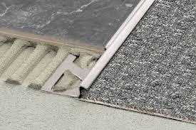 tile to carpet transition options the z bar transition